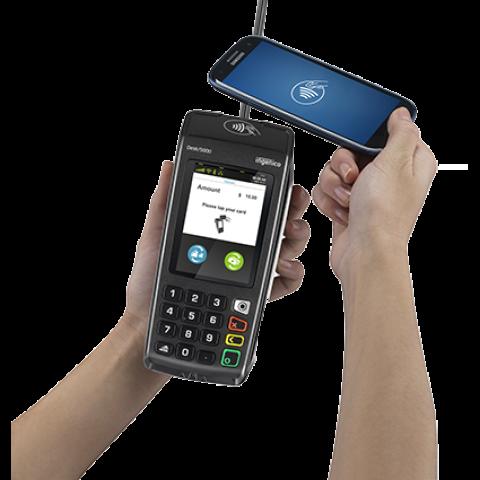 Paiement mobile avec le terminal de paiement Desk 5000