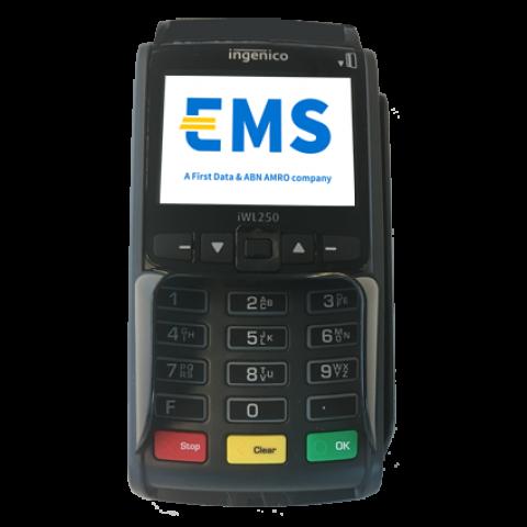 iWL250 mobiele GPRS betaalterminal vooraanzicht