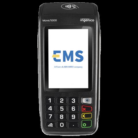 Vue avant du terminal de paiement mobile Ingenico Move 5000